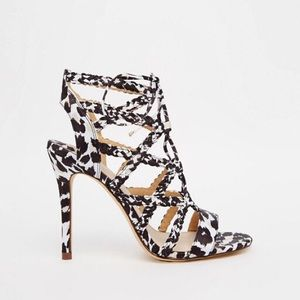 Faith D'Angelo Zebra Pony Effect Tie Up Sandals